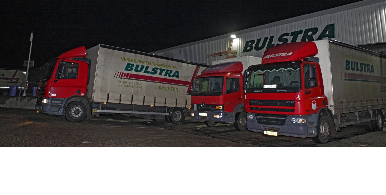 Bulstra transport drie vrachtwagens