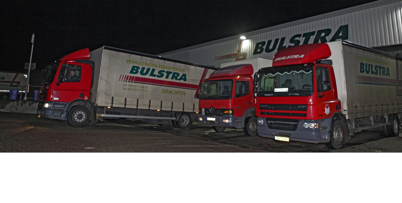 Bulstra transport verhuizingen drie vrachtwagens