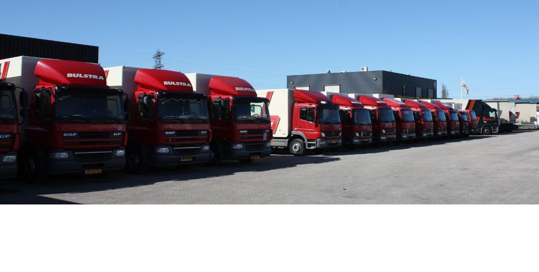 Bulstra transport verhuizingen heel veel vrachtwagens