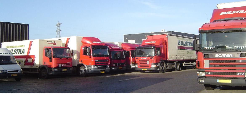 Bulstra transport verhuizingen veel vrachtwagens
